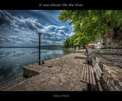 It was almost like the blues (Nikos O'Nick) Tags: lake water clouds landscape nikon tripod nick hellas nikos greece monastery macedonia nikkor hdr manfrotto kastoria photomatix      d810  mavriotissa 055xprob 1424mm      498rc2 kotanidis  oick