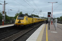 "Network Rail 'New Measurement Train' Class 43, 43013 (37190 ""Dalzell"") Tags: yellow northwestern nr wigan hst highspeedtrain networkrail class43 intercity125 43013 testtrain doctoryellow bufferfitted brelcrewe hstdvt surrogatedrivingvantrailer"