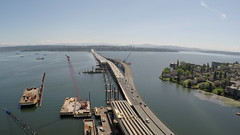 An aerial view of the West Approach Bridge North (WSDOT) Tags: sr520 wabn west approach bridge north sr 520 za