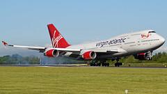 Virgin Atlantic Airways Boeing 747-443 G-VROS (StephenG88) Tags: man airbus vs boeing 747 virginatlantic manchesterairport 747400 vir 744 egcc 24516 23l 23r 52416 gvros 24thmay2016