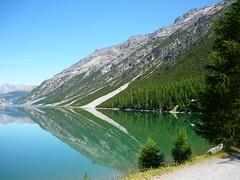 Silence (SixthIllusion) Tags: travel summer italy panorama lake mountains water holidays livigno