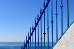 Azules y  blanco (camus agp) Tags: espaa mar canoneos malaga guadalmina rejas azules oxidos marmediterraneo