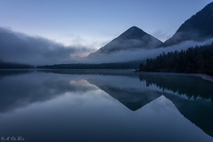 Silence v2 (MC-80) Tags: morning blue mist mountain lake misty reflections austria see tirol sterreich mood nebel berge hour bluehour spiegelung tyrol blauestunde heiterwangersee heiterwanger