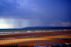 Storm looms. (pstone646) Tags: sea seascape storm beach nature rain weather clouds landscape sussex waves horizon camber