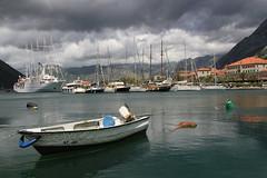 Bay of Kotor (Wild Chroma) Tags: world storm heritage rain clouds bay site gulf harbour ships unesco worldheritagesite montenegro kotor