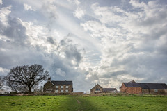 Farm, Little Eaton, Derbyshire (Geraldine Curtis) Tags: sky farmhouse farm derbyshire explore littleeaton