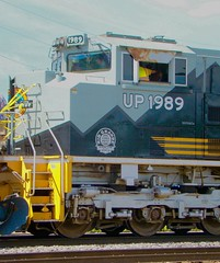 On the scene @ the Franklin Park Rail Day 6/11/16. (Chicago Rail Head) Tags: localrailroad firsttime steamlocomotive diesels locomotivesondisplay passengercars emergencyvehicles 61116 mow equiment sd70ace up