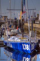 TransAt Yachts 30th April 2016 #16 (JDurston2009) Tags: blue reflection sailing yacht plymouth barbican devon sailingboat 138 suttonharbour transat transatbakerly