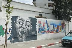 Wonderful street art as we head for the Medina (isisjem22) Tags: markets morocco medina tangier kasbah