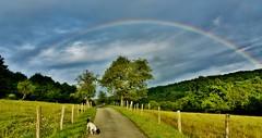 ~~Ce soir...un Miracle sur mon chemin...!~~ 2 (Jolisa) Tags: sky landscape evening camino path ciel 25 paysage soir glay franchecomt chemin arcenciel doubs