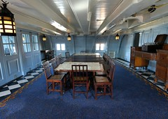 Officers Mess on HMS Victory (gillybooze) Tags: longexposure windows bottle ship chairs desk furniture navy nelson tables portsmouth lamps sailingship messhall hmsvictory lordnelson navalhistory allrightsreserved blocktackle