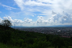 felhő-játék / cloud game (debreczeniemoke) Tags: city blue summer sky cloud meadow ég felhő baiamare város nyár kék rét nagybánya olympusem5