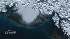 Alaskan Satellite Imagery (thezuperhero) Tags: ocean blue sea white lake ice alaska bay raw satellite glacier data icy yakutat malaspina