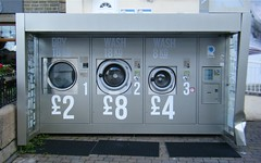 Haslingden, Lancashire, outside laundry facilities in Town Centre (rossendale2016) Tags: park car outside four town hit coin centre spin lancashire cleaning wash laundry spinning hours 24 reversed damaged tumble washing dryer twenty drier drying facilities operated haslingden collided