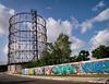 Gasometro, Ostiense (Robert Barone) Tags: micro43 ostiense panasonicgm1 roma rome commute graffiti gasometro