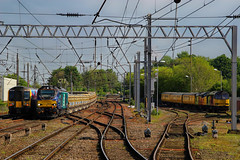 Hectic Citadel (350405 68019 60047 37116) (Steven Atkinson) Tags: test tractor yard train manchester high airport glasgow central first rail summit brutus network express tug carlisle services wapping direct 68 tpe transpennine shap drs colas sidings railfreight 37116 60047 68019 6c28 1m99 350405