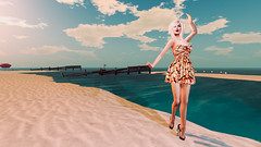 The happiness is on the beach (heidi.rewell) Tags: theskinnery catwa helamiyo slackgirl exxess salt maitreya secondlife
