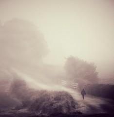 image (matthewheptinstall) Tags: wakefield countryside fog dogwalker morning mist westyorkshire