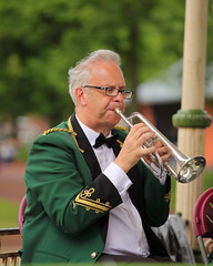 Playing my trumpet. (Barry Miller _ Bazz) Tags: park england music canon lens cheshire band trumpet victoria 5d bandstand brass 70200 widnes halton mark2 f4l greenalls