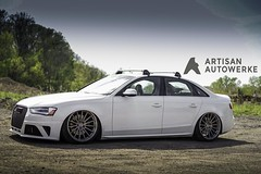 m615-brushed-stainless-audi-b8-s4-side-front-2 (AvantGardeWheels) Tags: agwheels avant garde wheels m615 brushed stainless concave 20x10 air suspension bagged bags audi audizine b8 a4 s4 custom bespoke finish finishing rotary forged flow form flowform wheel rim rims design designs avantgarde rotaryforged art advanced technology spun