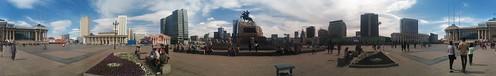 20160607160053 - Panorama of Genghis Khan Square, Ulaanbataar, Mongolia