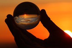 (Kathryn_SanAgustin) Tags: ocean blue sunset sky orange beach glass silhouette canon sandiego sphere delmar crystalball camppendleton canon7d smilefocusclick khsanagustin khsmiles