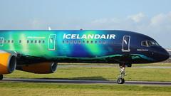 TF-FIU Boeing 757 Icelandair (GSairpics) Tags: travel ice airplane scotland flying airport aircraft aviation transport flight jet aeroplane airline fi boeing airliner gla jetliner icelandair boeing757 b757 renfrewshire glasgowairport tffiu b752 egpf