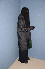 Slave Girl in Warm Parka (Buses,Trains and Fetish) Tags: winter hot girl warm coat jacket sweat anorak slave burka chador niqabhijab