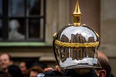 POTD; The Change of the Guards in Stockholm (the Store Kyrkan reflected in the guards helmet) (janmennens) Tags: reflection se sweden stockholm sdermalm helmet potd sverige helm zweden photooftheday wachter slottsbacken changeoftheguards stockholmsln storekyrkan