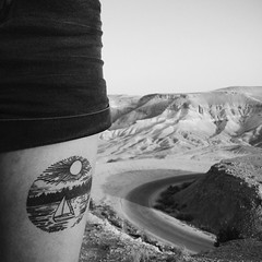 *** (Boris Rozenberg) Tags: vsco vscocam vscoedit desert nature landscape water tatoo girl friend leg blackwhite blackandwhite road trip journey iphone iphonemania iphoneonly blackandwhitephotography photography bw black white pov view panorama original emotion atmoshpere chaos harmonie art earth world