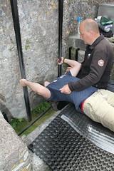 Myles Mattila kissing the Blarney Stone - History (Kelowna Chiefs - @MindRight.info @MindCheck.ca) Tags: stone kiss cork match goodtimes irishluck