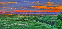 Glowing Hill (ghecko13) Tags: pink sky mountains green colors landscape colorado lafayette longmont boulder snowcapped louisville erie weldcounty bouldercounty