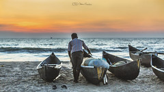 Preparation (cmgaonkar) Tags: fisherman fishermanlife boats sea arabiansea kumta india indianphotographers beach beautifulevenings sunset canon6d canonindia canon colors sand