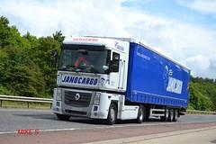 Renault Magnum 'Janocargo' reg 9743 HGR (erfmike51) Tags: lorry artic curtainside renaultmagnum janocargo