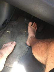One last #barefoot hurrah! #DrivingBarefoot #barefooter #filthyfeet (barefootdizzle) Tags: barefoot barefooter filthyfeet drivingbarefoot