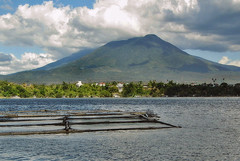 Sampaloc Lake (2015) (phillipians12004) Tags: trees sky mountain lake clouds rollei waterscape