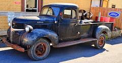 Dodge Truck (creepingvinesimages - struggling to keep up!) Tags: blue red truck outdoors virginia nikon pickup topaz adjust htt photomatix 1939dodge mtcrawford d7000 pse14