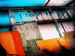 Boarded (emulsivefilm) Tags: 120mediumformatfilm 2015july crossprocessing emulsivedailyphoto iso100 iso200 kodak kodakektachromee100vs slidefilmcolorreversal