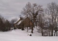 La petite maison dans la montagne (! Nature Bx !) Tags: france montagne alpes chalet neige paysage hautesalpes saintlgerlesmlzes pc305695