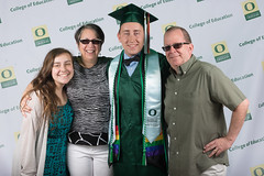 Commencement 2016 (uoeducation) Tags: family friends portrait college oregon lights parents university diploma stage unitedstatesofamerica aaron group graduation ceremony eugene celebration uo backdrop lit graduate montoya coe uofo universityoforegon grads uoregon gather collegeofeducation commencment matthewknightarena uocoe fwicomm16 coebackdrop