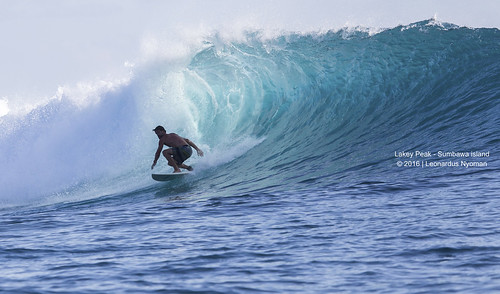 Surfing in Lakey Peak, Huu, Sumba island Indonesia.
