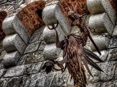Dragon Iron Fixture (KnightedAirs) Tags: castle digital canon photography photo iron powershot gargoyle fixture hdr s100