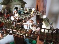 Ewokdorf - Han und Leia (KW_Vauban) Tags: starwars lego endor ewokvillage episodevi thereturnofthejedi