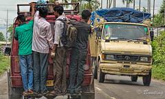 Very common form of transportation in India (stevebfotos) Tags: people hdr shillong transportation meghalaya topaz india bojoranc assam in