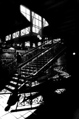 Hungary - Budapest (luca marella) Tags: street light shadow bw stairs blackwhite europe documentary social bn biancoenero est centralmarket reportage 1897 nagycsarnok lucamarella samupecz