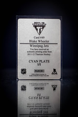 Blake Wheeler Panini Printing Plate (cdn_jets_cards) Tags: ice hockey cards nhl winnipeg jets go plate manitoba deck upper printing wheeler blake panini forward upperdeck nhlpa
