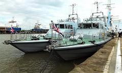 HMS Blazer P279  -   HMS Ranger P293 (David Shreeve) Tags: royalnavy ship boat maritime humber estuary england uk grimsby docks nelincs