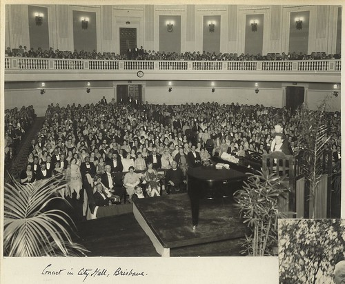 City Hall viewed from the stage, Brisbane, 1931