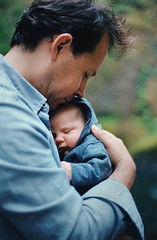 new. (manyfires) Tags: family portrait baby love film oregon analog 35mm michael infant child bokeh father son nikonf100 newborn pacificnorthwest gorge pnw hold columbiarivergorge wahclella wahclellafalls