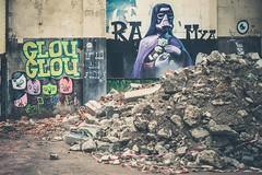Glouglou and Ra Mya (dono heneman) Tags: street city urban streetart france art abandoned graffiti mya image pentax picture graff ra rue nantes ville urbain artistique urbaine ramya abandonn dbris dmolition paysdelaloire loireatlantique abandonne glouglou pentaxart pentaxk3